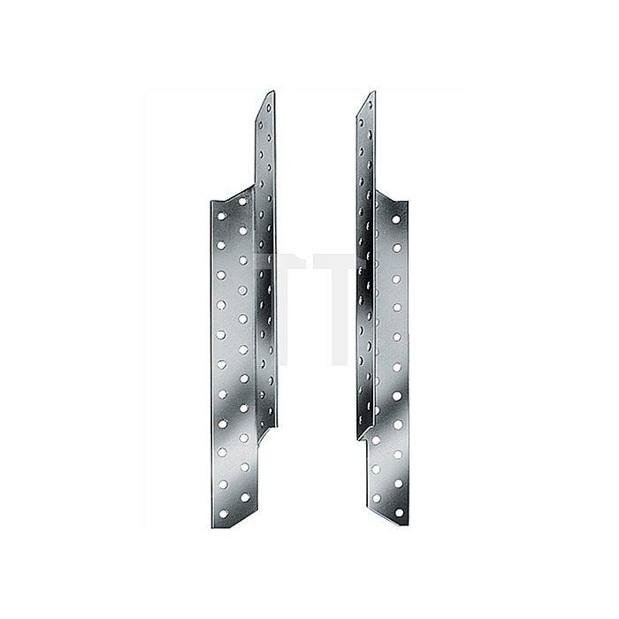 Sparrenpfettenanker ETA 07/0137 Typ SPF250 links H.250mm B.34,5mm S.2mm