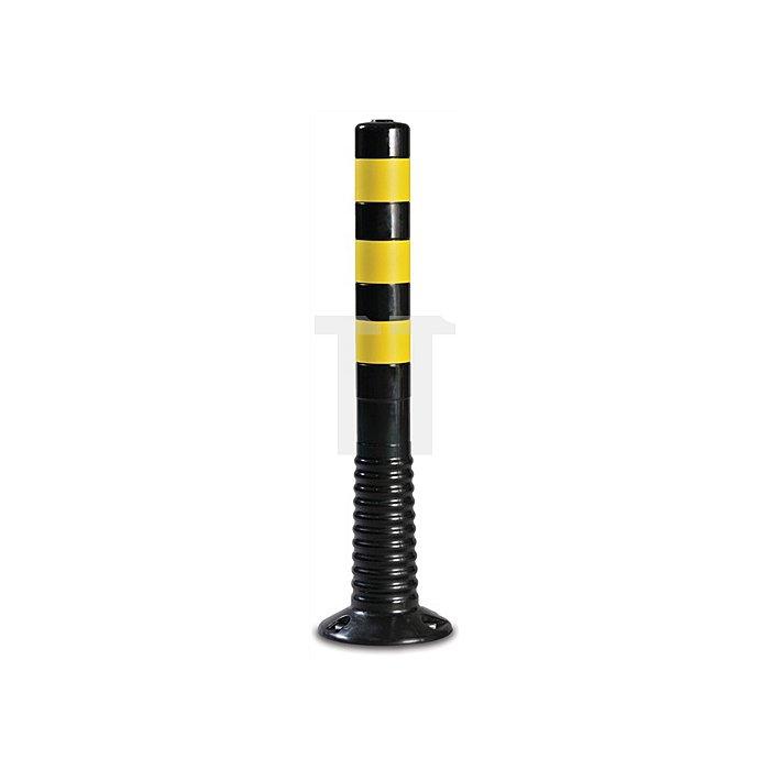 Sperrpfosten PU schwarz/gelb D.80xH.750mm zum Aufschrauben