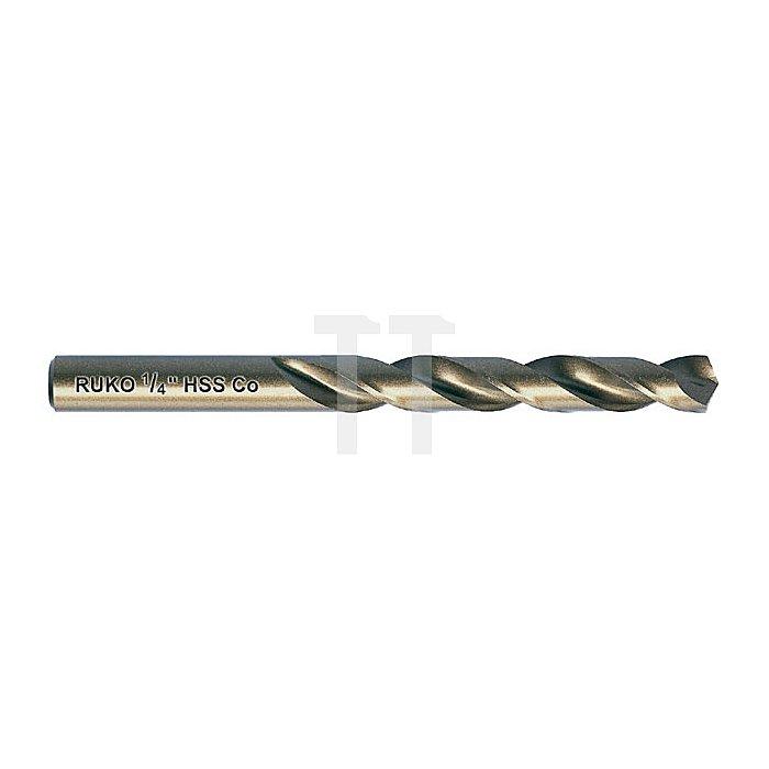 Spiralbohrer DIN 338 Typ N in Zollabmessung HSS-G Co 5, mit Kreuzanschliff