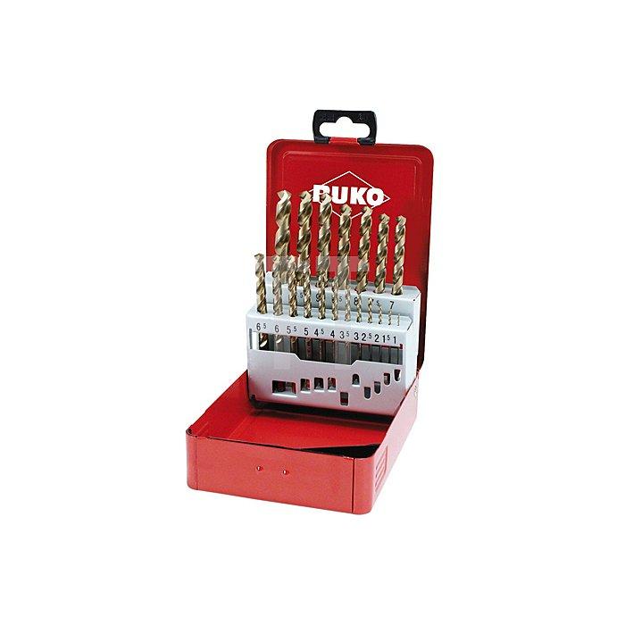 Spiralbohrersatz DIN 338 Typ UNI HSSE Co 5 in Industriekassette