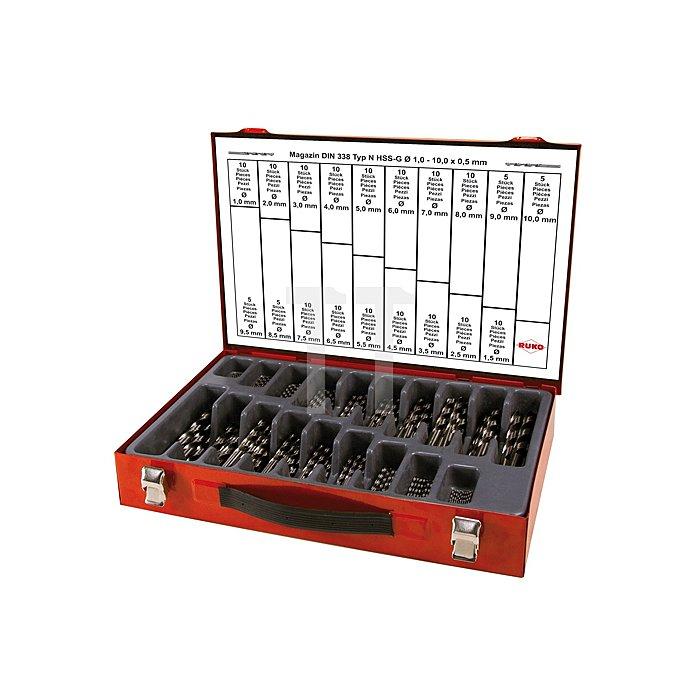 Spiralbohrersatz DIN 338 Typ N HSS G in Industriekassette