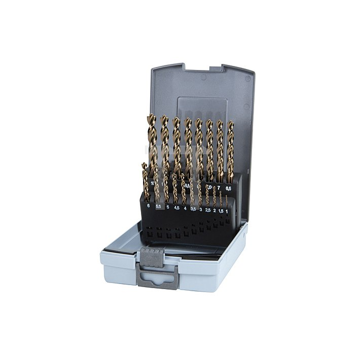 Spiralbohrersatz DIN 338 Typ TURBO HSS G in Kunststoffkassette (ABS)