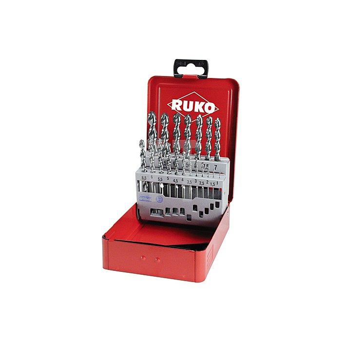 Spiralbohrersatz DIN 338 Typ TL 3000 HSS in Industriekassette