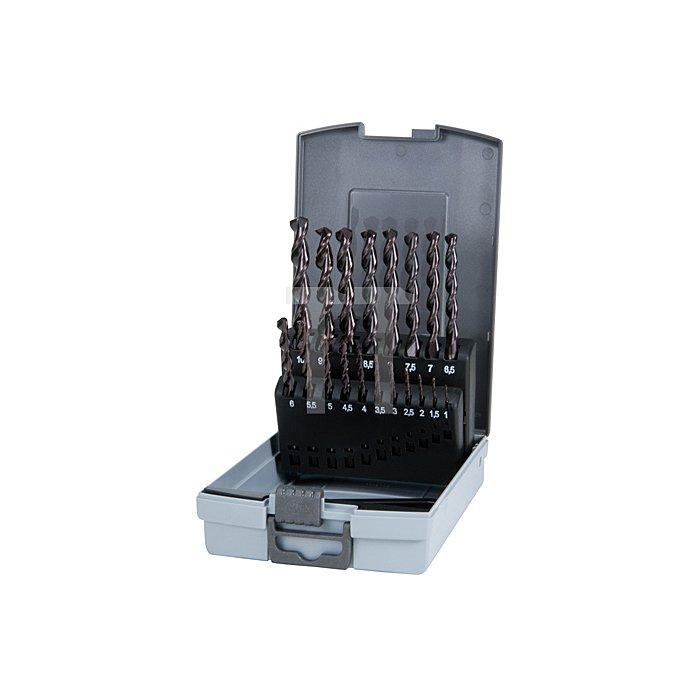 Spiralbohrersatz DIN 338 Typ TL 3000 HSS TiAlN in Kunststoffkassette (ABS)
