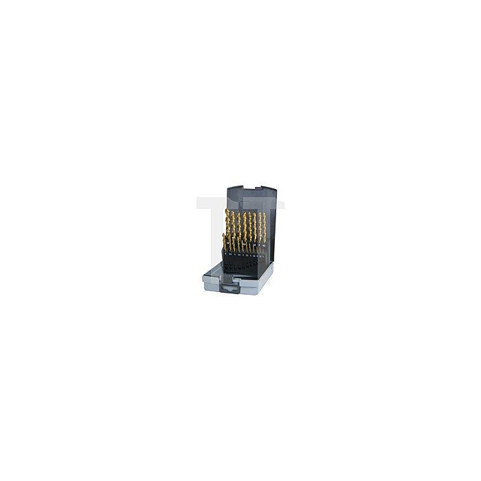 Spiralbohrersatz DIN 338 Typ TL 3000 HSS TiN in Kunststoffkassette (ABS)