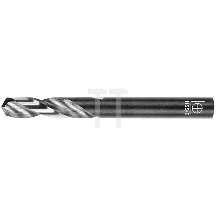 Spiralbohrer, zyl., extra kurz Ø 5,1mm Typ N HSS-E / HSS-Co5 rechts