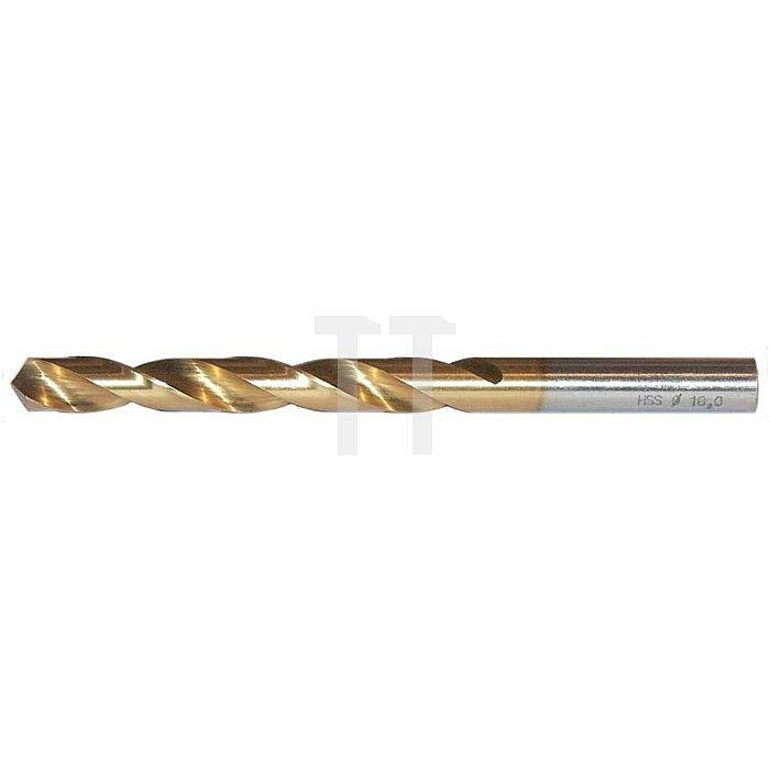 Spiralbohrer, zyl., kurz Ø 3,6mm Typ N HSS-TiN rechts