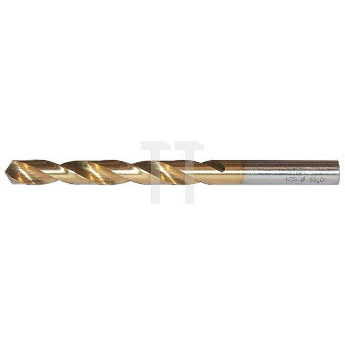 Spiralbohrer, zyl., kurz Ø 7,6mm Typ N HSS-TiN rechts