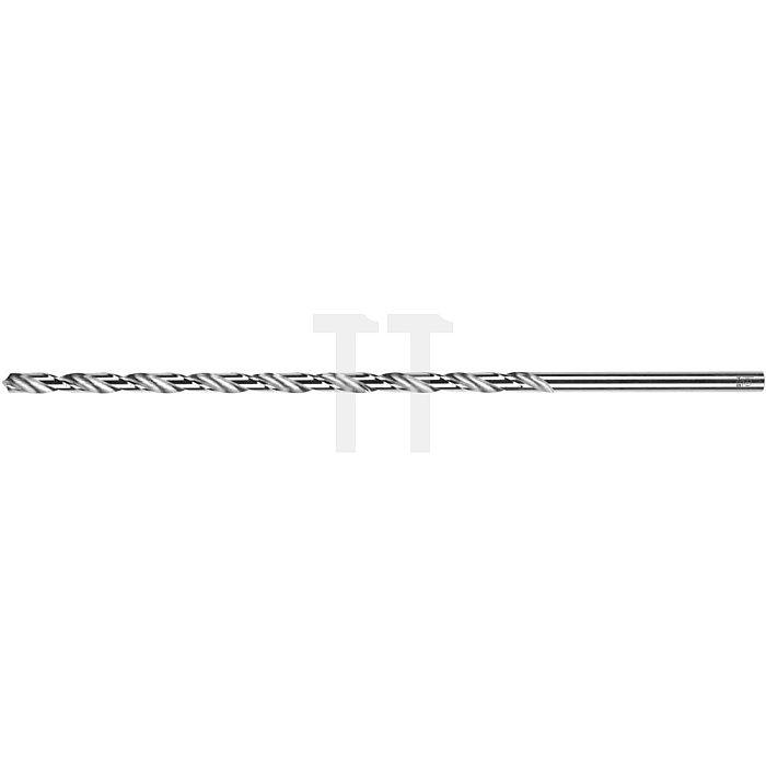 Spiralbohrer, zyl., überlang 125 - 310mm Ø 2mm Typ N HSS rechts