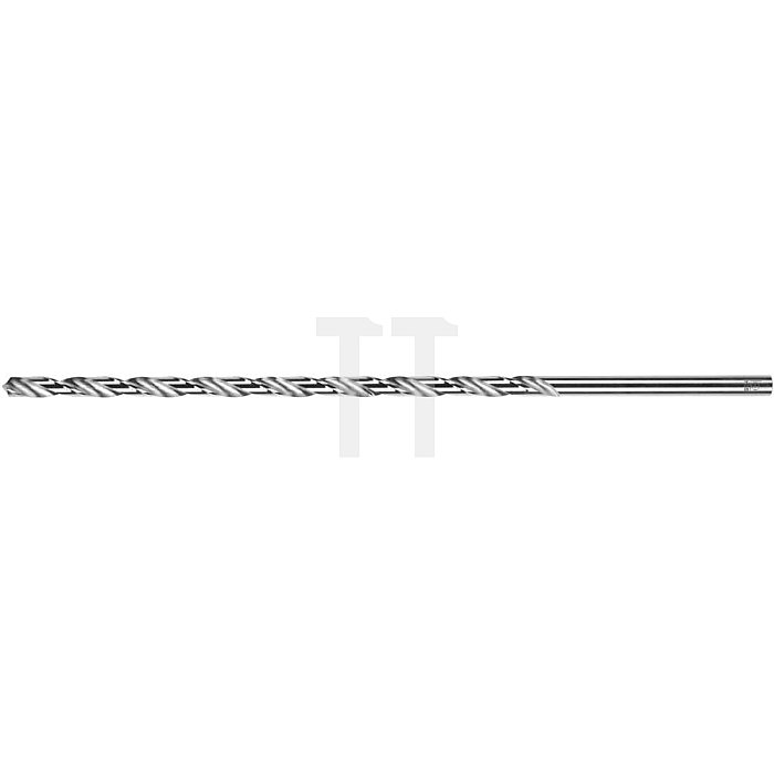 Spiralbohrer, zyl., überlang 125 - 310mm Ø 3,3mm Typ N HSS rechts