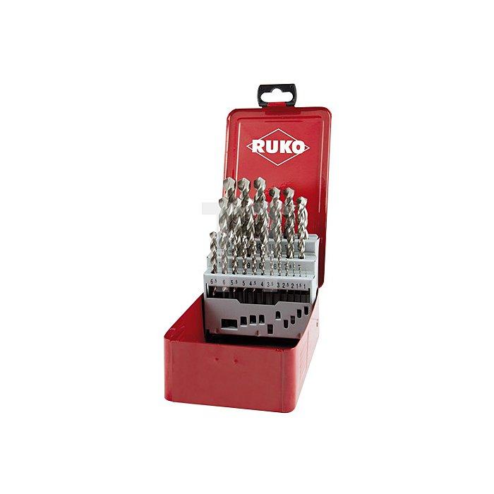 Spiralbohrersatz DIN 338 Typ FO HSSE Co 5 in Industriekassette