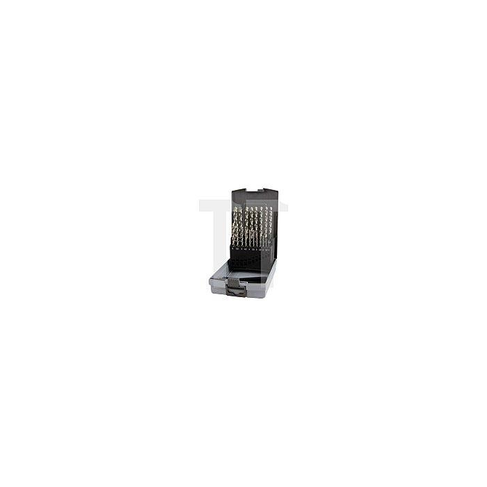 Spiralbohrersatz DIN 338 Typ FO HSSE Co 5 in Kunststoffkassette (ABS)