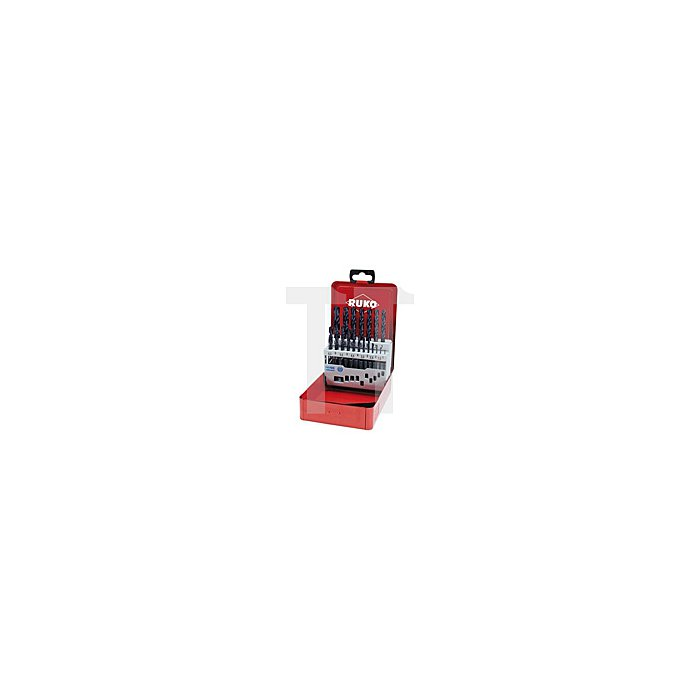 Spiralbohrersatz DIN 338 Typ VA HSSE Co 5 TiAlN in Industriekassette