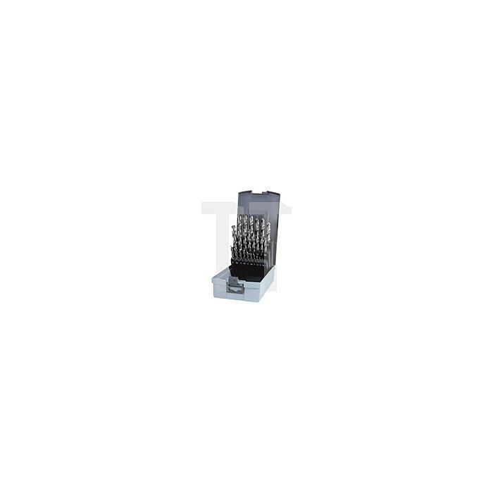 Spiralbohrersatz DIN 338 Typ N HSSE Co 8 in Kunststoffkassette ABS