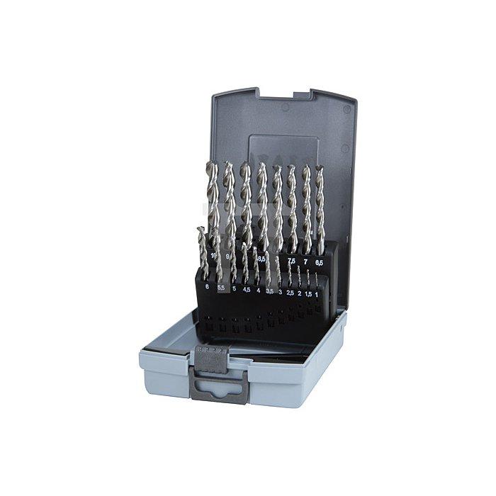 Spiralbohrersatz DIN 338 Typ TL 3000 HSSE Co 5 in Kunststoffkassette (ABS)