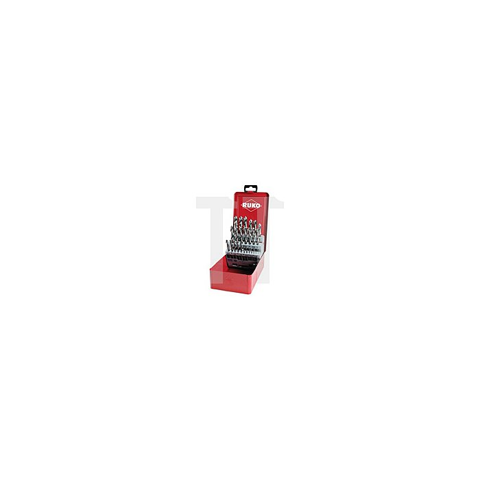 Spiralbohrersatz DIN 338 Typ VA HSSE Co 5 in Industriekassette