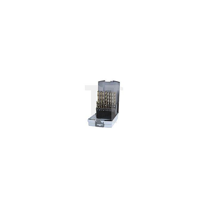 Spiralbohrersatz DIN 338 Typ VA HSSE Co 5 in Kunststoffkassette (ABS)