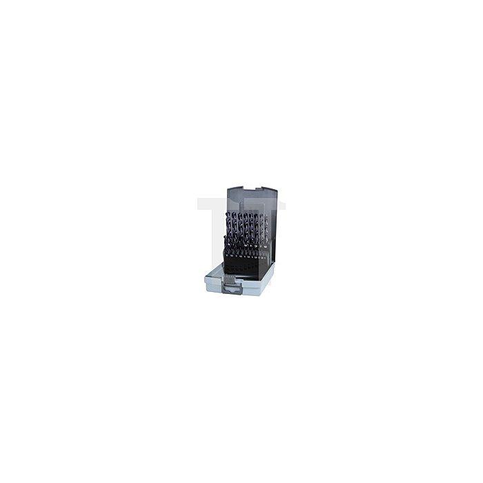 Spiralbohrersatz DIN 338 Typ VA HSSE Co 5 TiAlN in Kunststoffkassette (ABS)
