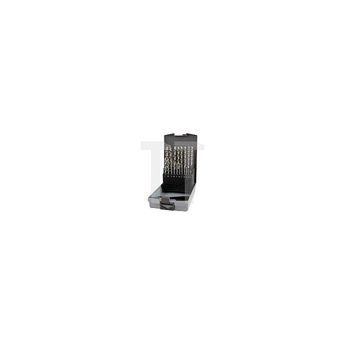 Spiralbohrersatz DIN 338 Typ W HSS G in Kunststoffkassette (ABS)