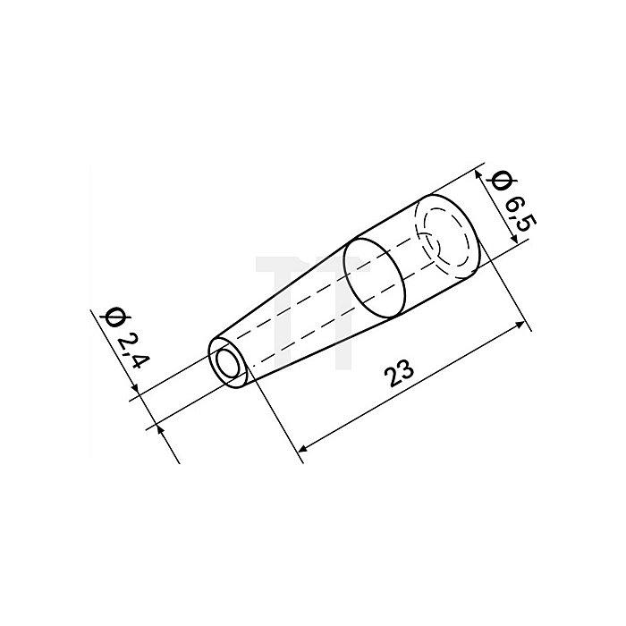 Spitze OVAC X2 f.Entlötgerät f.Art.Nr.872554 ERSA 2St./VE