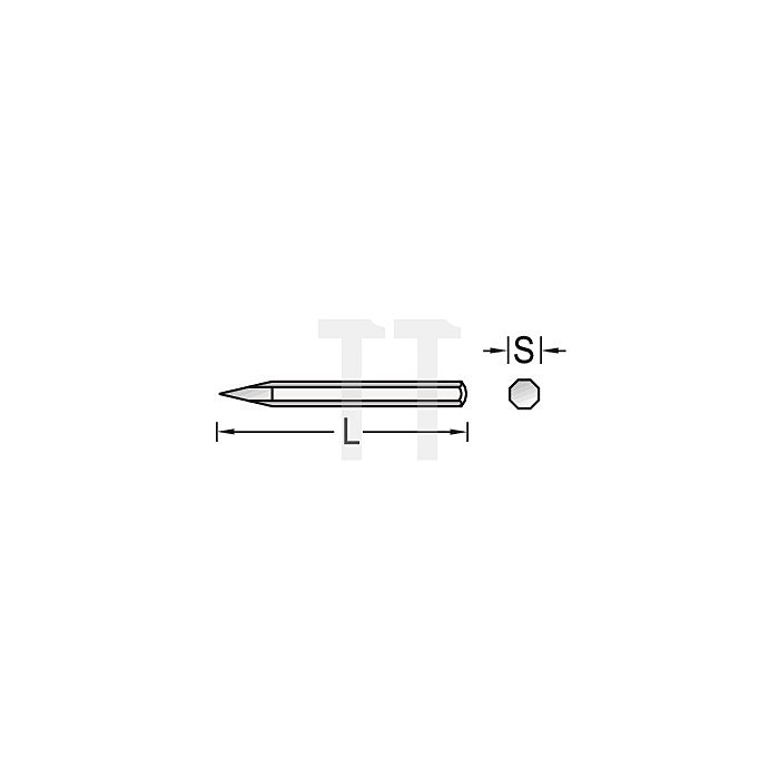 Spitzmeißel 300x18mm 8KT m.Handschutz