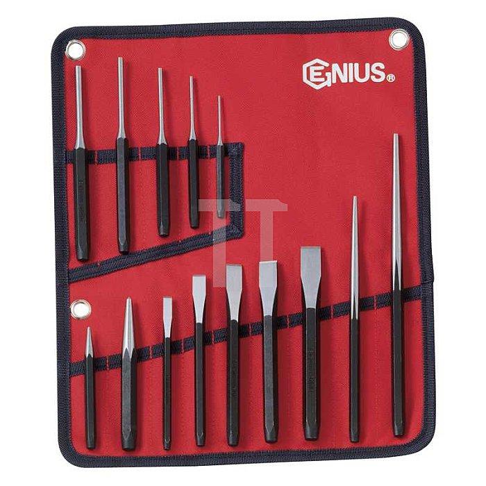 Splintentreiber, Flachmeißel, Durchtreiber, KörnerSet+ Werkzeugmappe 14tlg.