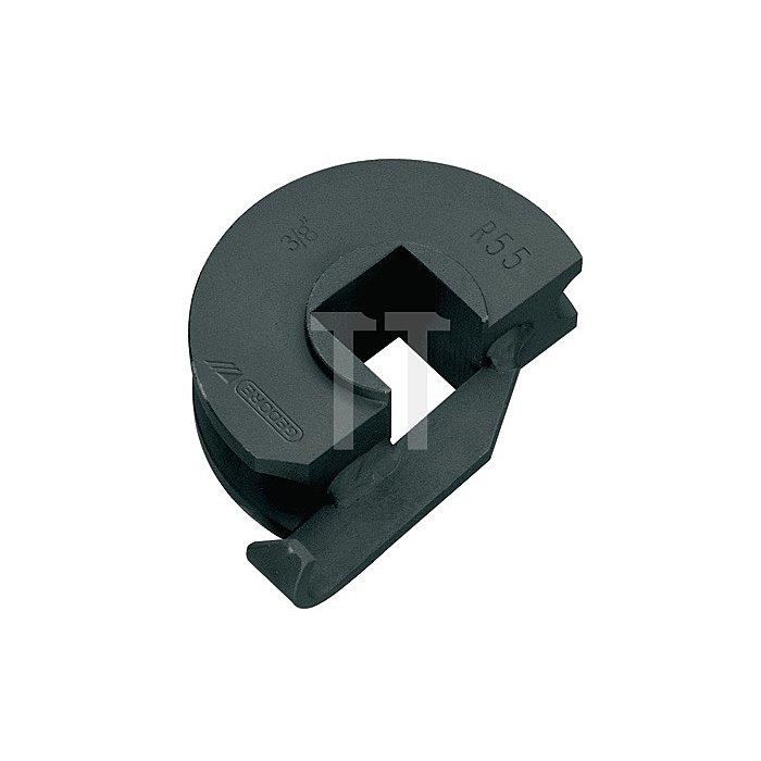 Stahl-Biegesegment f.Rohre 3/8Zoll o.Gleitschiene r=55mm, bis 180Grad