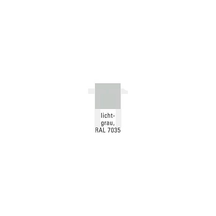 Stahlboden lichtgrau L.500xT.250mm f.Schlitzplatte