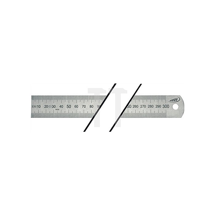 Stahlmaßstab L.1500mm biegsam Teilung A=mm/mm