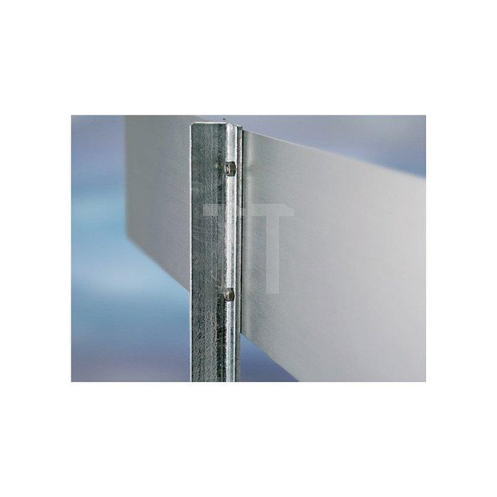 Stahlständer m.Bodenpl. H.500mm verz. m.T-Profil 25x25x3,5mm Bodenplatte
