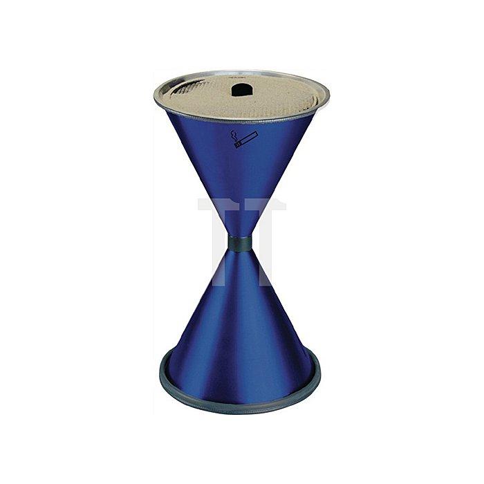 Standascher blau Stahlblech mit Einlegesieb Metall H770xD.405mm