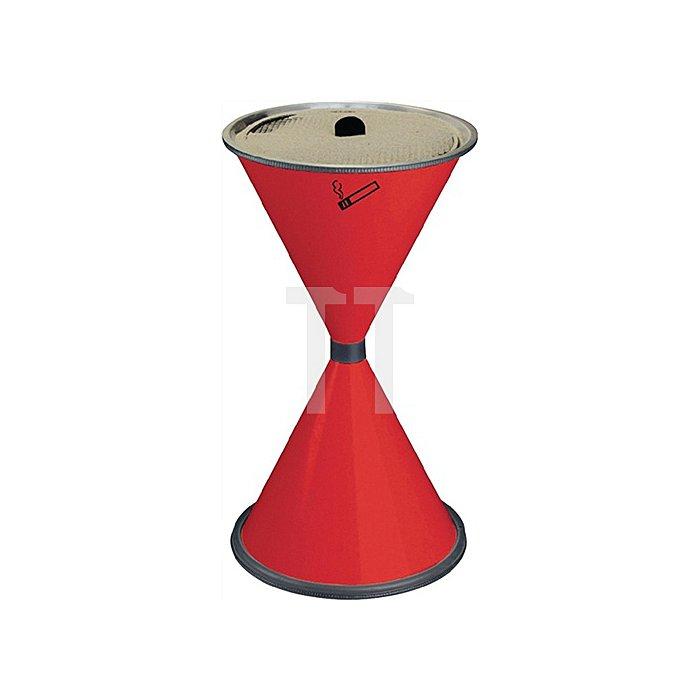 Standascher rot Stahlblech mit Einlegesieb Metalll H770xD.405mm