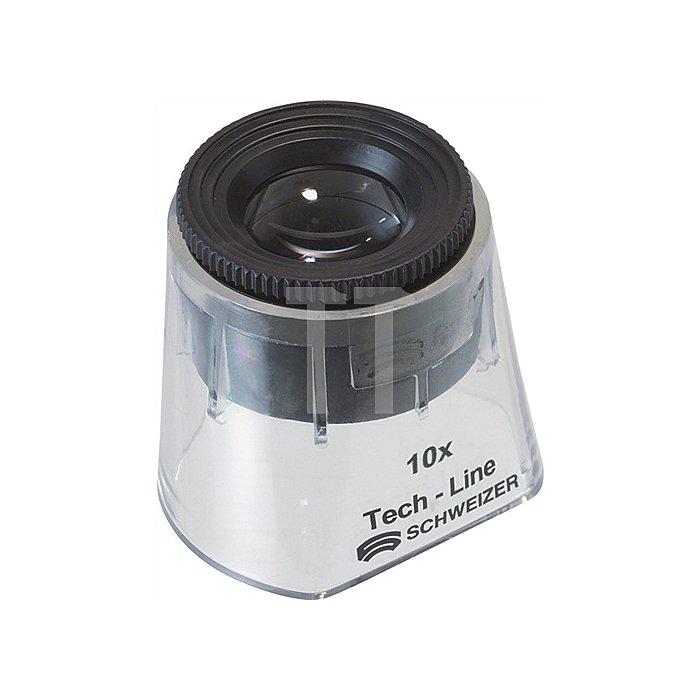 Standlupe Tech-Line Vergrößerung 10x Focus Fix Linsen-D.30mm