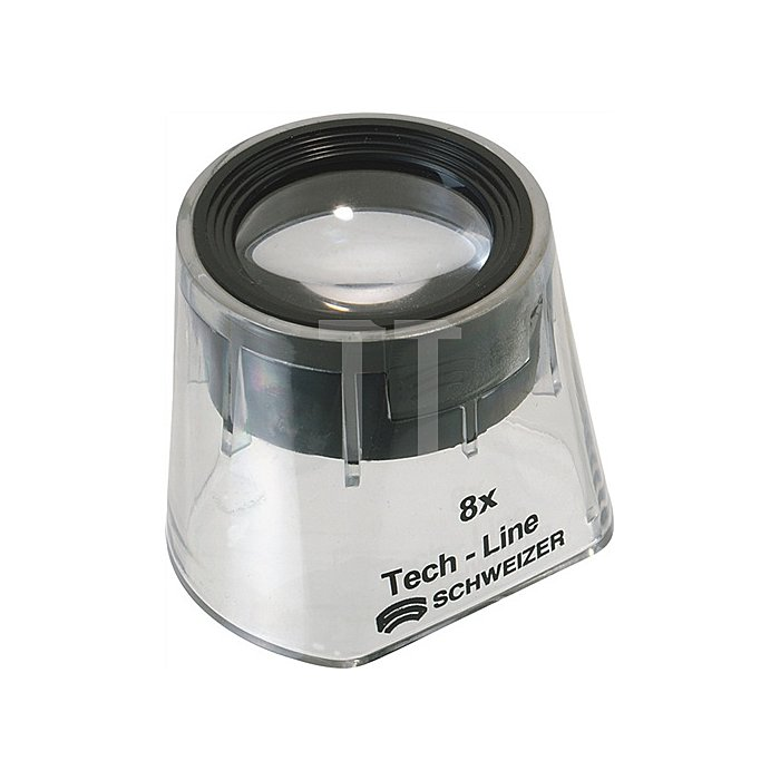Standlupe Tech-Line Vergrößerung 8x Focus Fix Linsen-D.30mm