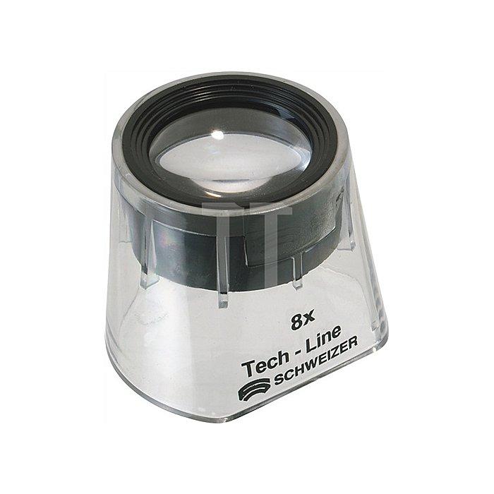 Standlupe Tech-Line Vergrößerung 8x Focus Vario Linsen-D.22,8mm