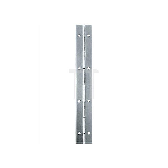 Stangenscharnier Breite 40mm Eisen vermessingt Stange 3,5m 10 Stangen a 3,5m