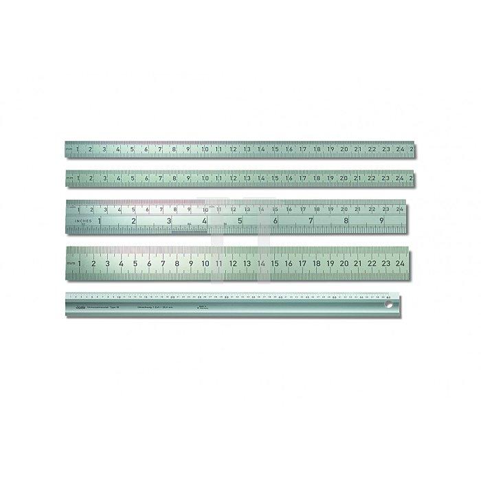 BMI Starrer Stahlmaßstab , rostfrei 600mm 966060060