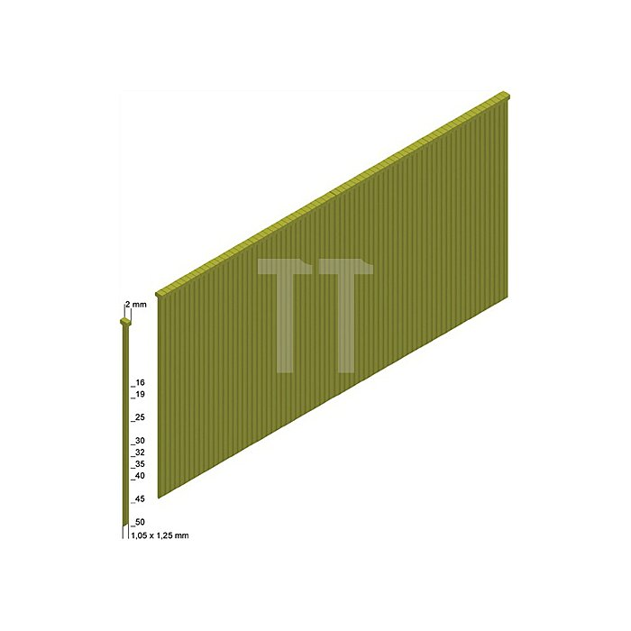 Stauchkopfnägel J40CNKHA 1,05x1,25mm/40mm verzinkt/geharzt