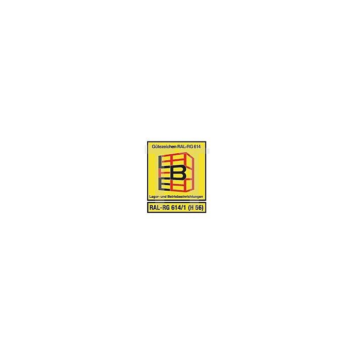 Steck-Grundregal H2000xB1000xT400 14 Böden Lagerbox 60xGr.3,15xGr.4,24xMK4 grün