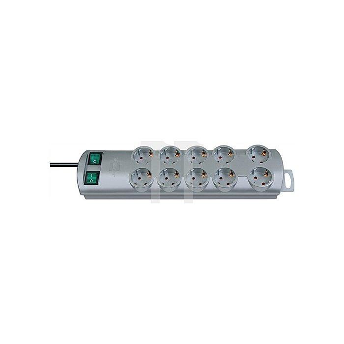 Steckdosenleiste 10fach m.2Schalter weiss L.2m BRENNENSTUHL H05VV-F