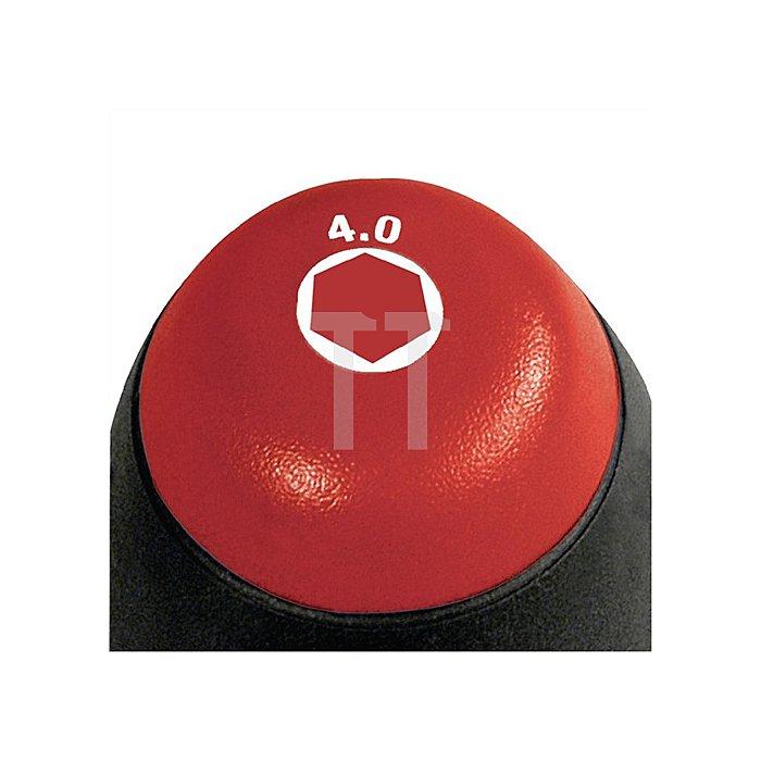 Steckschlüssel 6KT SW 7mm Ges.-L.238mm m.Rundkl./Innenbo. 6KT-Ansatz Chrom matt