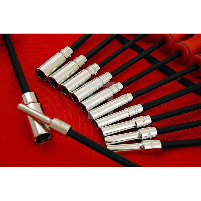 Steckschlüssel lang Schraubendreher Satz 4 - 14mm metrisch 12tlg.