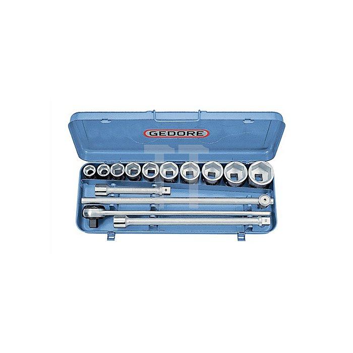 Steckschlüssel-Satz 3/4Zoll 14-tlg 6-kant 22-50mm
