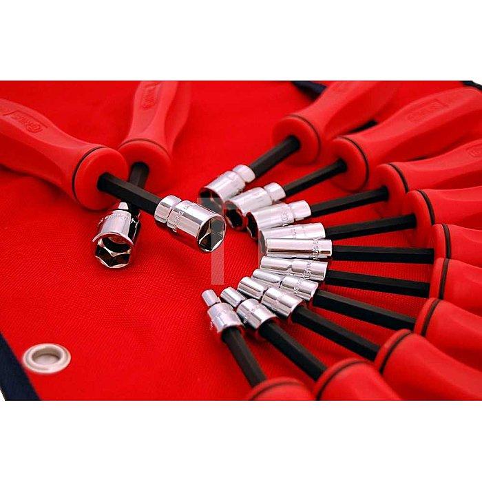 Steckschlüssel Schraubendreher Satz 4 - 14mm metrisch 12tlg.