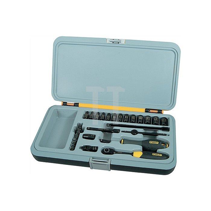 Steckschlüssel-Set FatMax 30 teilig 1/4Zoll Umschaltknarre KU.koffer Stanley