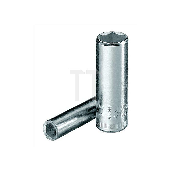 Steckschlüsseleinsatz 1/4Zoll lang 6-kant 12mm