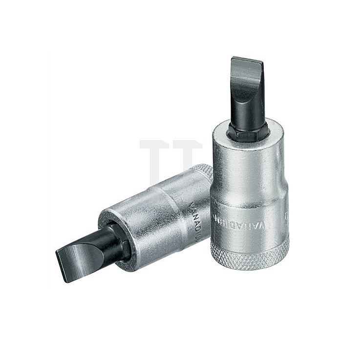 Steckschlüsseleinsatz B.10mm 1/2Zoll Schlitz GEDORE f.4KT-Antrieb