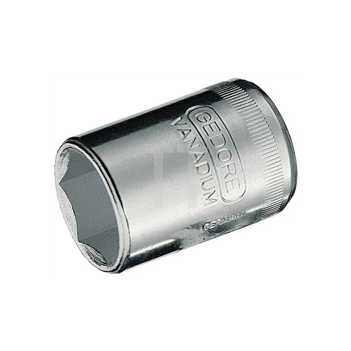 Steckschlüsseleinsatz SW9mm 1/4Zoll 6KT f.4KT-Antrieb GEDORE DIN3124/ISO2725