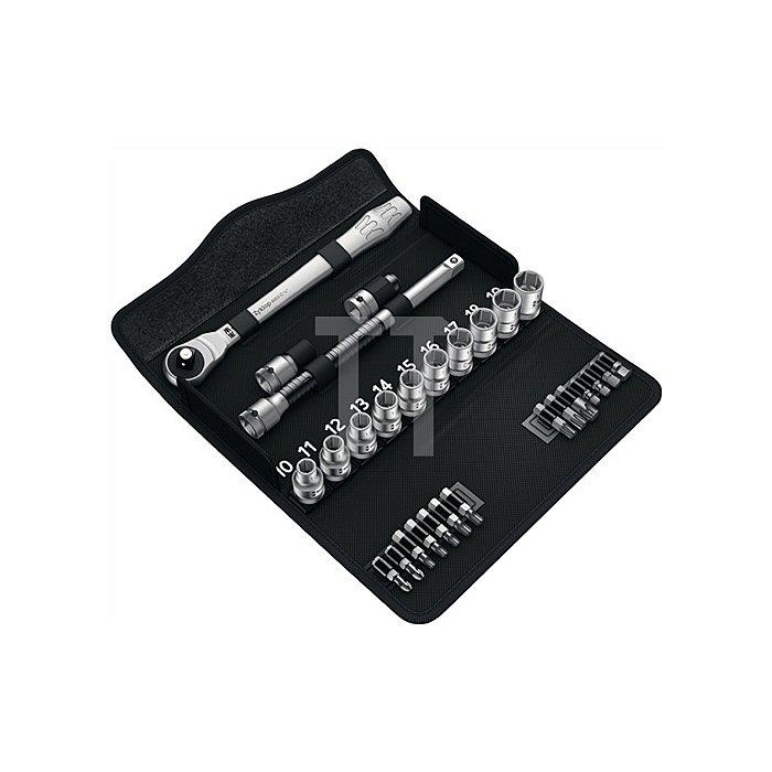 Steckschlüsselsatz 1/2 Zoll 28 teilig sw 10 bis sw 19 Zyklop Metal push Knarre