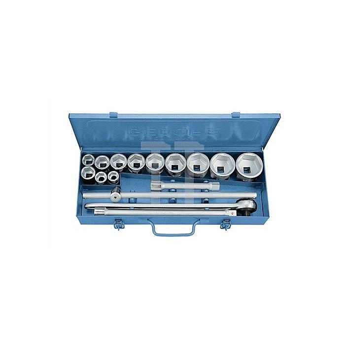 Steckschlüsselsatz 3/4Zoll 16tlg. 12KT Profil Durchsteckknarre